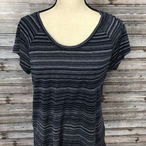 Philosophy Super Soft Striped Basic Tee Large